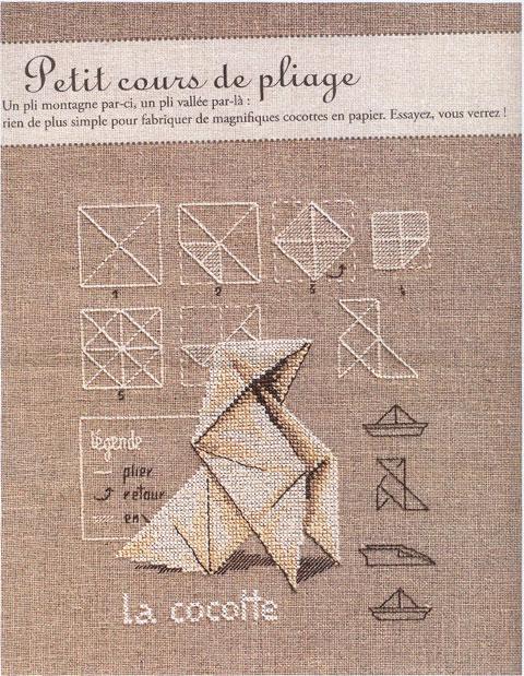 Origamiborduursel